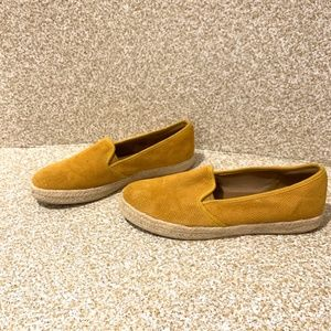 Clarks: Mustard Perforated Espadrille Loafer Shoe
